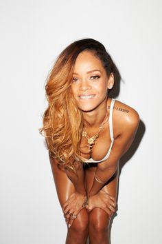 Outtake from Rihanna's Rolling Stone shoot at Terry Richardson's studio