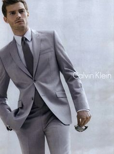 In a suit: | Here's Why Jamie Dornan Is The New Christian Grey calvin klein, jami dornan, christian grey, jamie dornan 50 shades of grey, jamiedornan, fifti shade, men wear, mens grey suits, male models