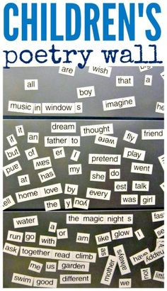 A poetry wall inspires a love of words and writing.