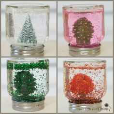 4 seasons mini snow globes