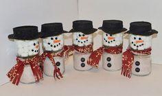 Baby food jars to snowmen