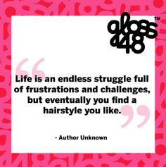 Life is an endless struggle...