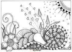 Just discovered Zentangle and doodling