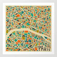 Paris Art Print by Jazzberry Blue - $19.00