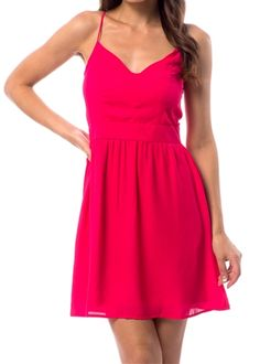 Magenta X Back Dress