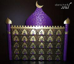 ramadan masjid countdown calendar diy craft  - s k e t c h e d s o u l
