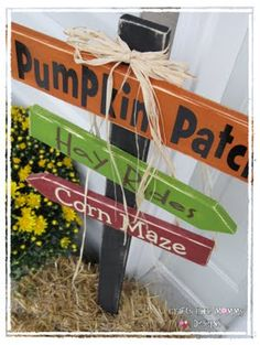 How To Make Fall Vinyl Signs - So Cute!