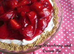 Easy Strawberry and Cream Pie - 6 WW Points. Yummy!