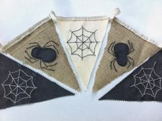 Hope & Gloria: Spooky Spider Bunting - A Halloween Decoration Tutorial