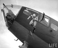 "Nose Art: B-17 Flying Fortress -  ""SUPERMAN""."