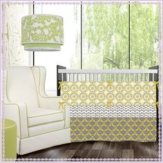 yellow gray and light green