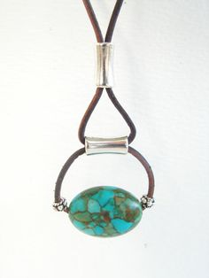 Love this chunky turquoise necklace