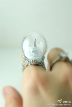 snow globe ring!!