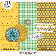 Into The Family tiny kit freebie from Just Because Studio