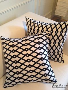 Contemporary Black and White Decorative Throw by stagedpresents, $25.00