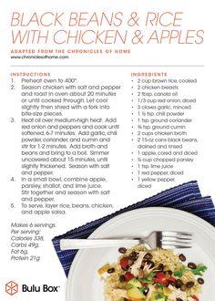Bulu Box Original Recipe: Black Beans & Rice with Chicken & Apples #healthy | bulubox.com