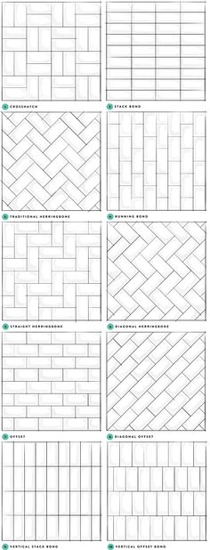 Subway tile layout designs