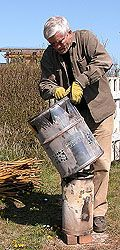 """Günther Folke is a Swedish ecologist and this page links to his writings about sustainability.  Here is """"a two-barrel charcoal retort"""" with which anyone can easily produce biochar at home."""