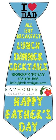 Honour and treat day to a wonderful meal at Bay House #Restaurant this Father's Day!