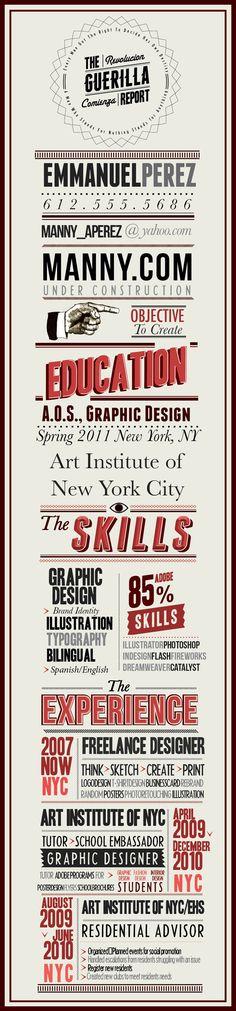 Typography resume