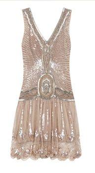 1920 flapper dress.