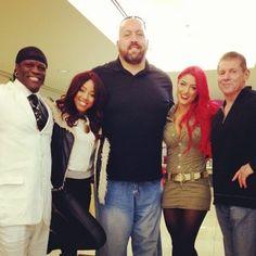 Alicia Fox R truth Eva Marie The Big Show and Vince McMahon
