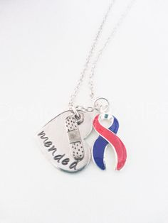 CHD Awareness mended Heart Necklace with Awareness by DesignsbyMRS, $26.00