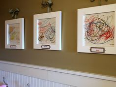 Ideas for displaying kids' artwork