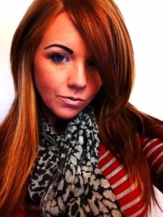 My red hair.. Natural with blonde highlights