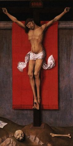 Rogier van der Weyden, Christ on the Cross with the Virgin and St. John, Diptych. 1460