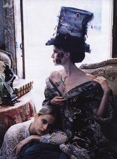 Masquerade   By Ruven Afanador forElle, September 2000