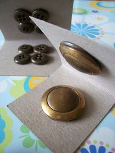 Cardboard and Buttons Castanets
