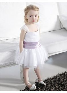 Cute A-line Square Straps Knee-length Tulle Stretch Satin Flower Girl Dress. From Cd Dress  www.cddress.com    Please mention that you found them thru Jevel Wedding Planning's Pinterest Account.  Keywords: #flowergirldresses #jevelweddingplanning Follow Us: www.jevelweddingplanning.com  www.facebook.com/jevelweddingplanning/