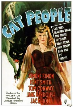 film, cats, simon simon, movi poster, cat peopl, posters, peopl 1942, catpeopl, people