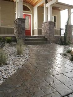 Stamped concrete patio ideas - That can be done your design projects within a strict budget by finding deals on high-quality equivalents at discount stores. #Stampedconcretepatioideas