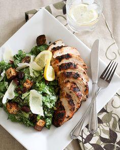 Healthy Caesar Salad: low fat dressing
