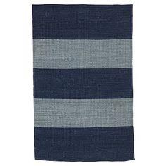 Camden Stripe Handwoven Rug - Indigo #WestElm