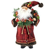 "18"" Old World Santa with Fruit and Presents"