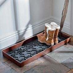 Metal Boot Tray with Rubber Insert