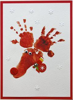 Hand & Footprint Reindeer