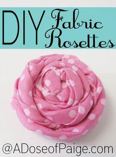 DIY Fabric Rosette
