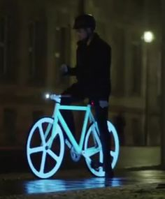 Neon bike - it should be compulsory, especially in South Africa, to use this at night.