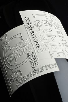 Cornerstone cab - this is a really neat label that translates into etching very well! wine / vinho / vino mxm