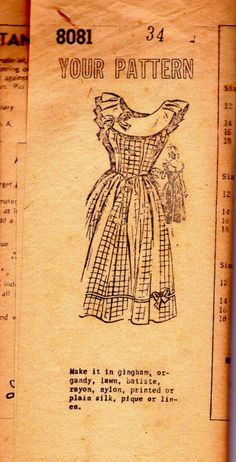 $14 vintage sewing pattern