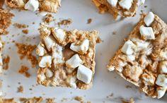 No-Bake Peanut Butter Marshmallow Squares Recipe ==> http://www.craftdiyideas.com/no-bake-peanut-butter-marshmallow-squares-recipe/