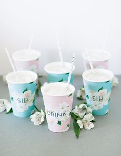Printable Floral Cup Holders