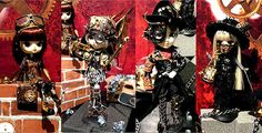 Steampunk dolls by Alguem Sensato, via Flickr