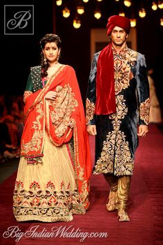 Shyamal & Bhumika lehenga and sherwani collection