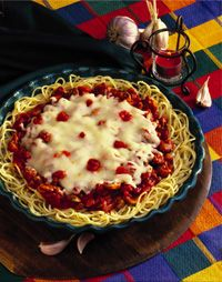 Spaghetti Pie (freeze-ahead recipe) from Debi Taylor-Hough - author of the Frozen Assets cookbook series.  #debihough