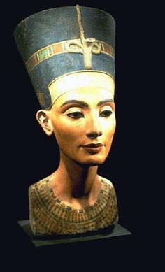 Portrait of Nefertiti from the Armana Period of Egyptian Art  This image has been restored.